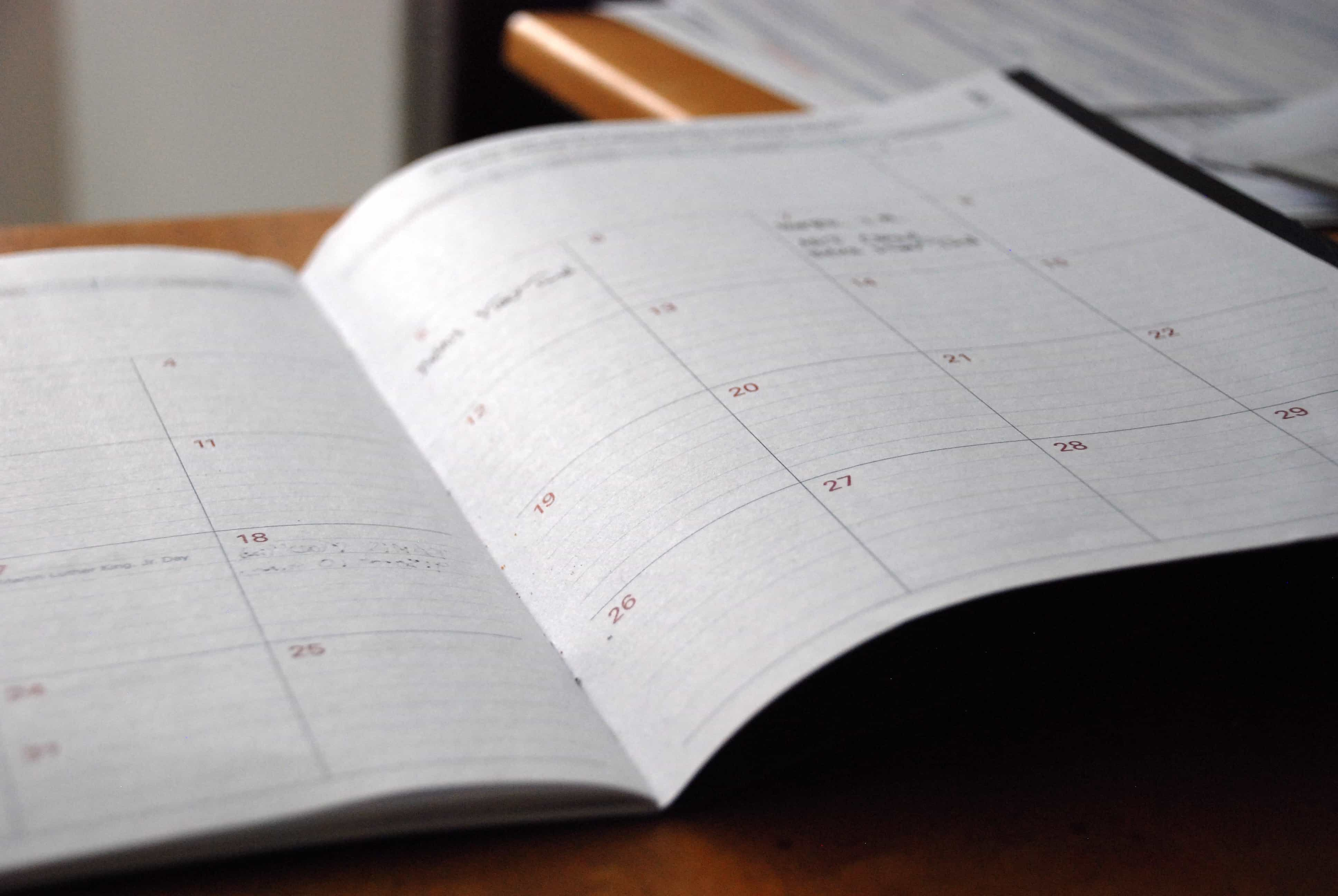 Use of Calendar for more productivity