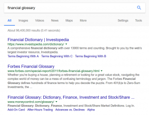 Search results without + sign