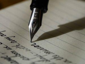 Writingusing a pen